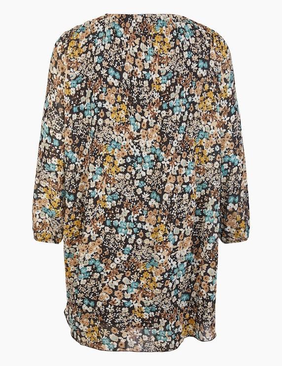 Thea Plissee-Kleid mit floralem Druck | ADLER Mode Onlineshop