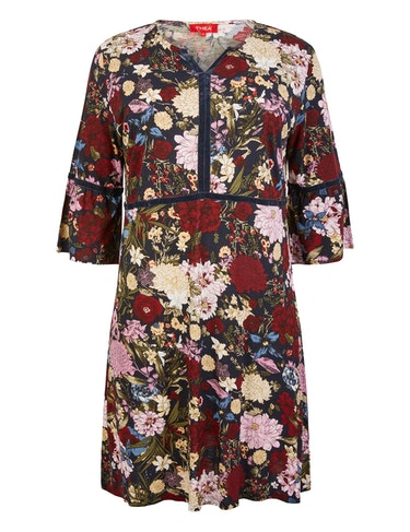 Produktbild zu Kleid mit Allover-Blumenmuster von Thea