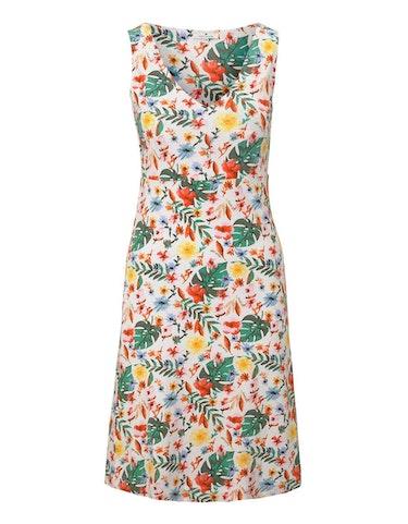 Produktbild zu Jersey-Kleid mit floralem Druck und V-Ausschnitt von Tom Tailor