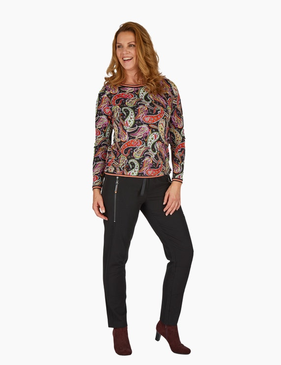 Steilmann Woman Langarm-Shirt mit Paisley-Muster   ADLER Mode Onlineshop