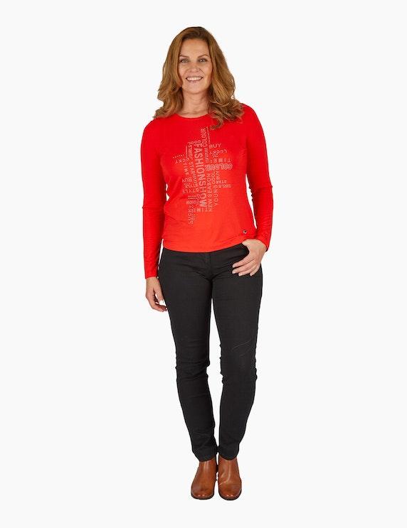 Steilmann Woman Langarm-Shirt mit Wording   ADLER Mode Onlineshop