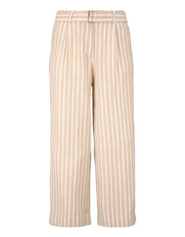 Produktbild zu gestreifte Culotte-Hose mit Leinen-Anteil von Tom Tailor