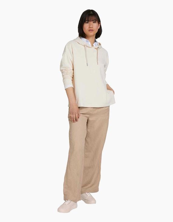 Tom Tailor Kapuzen-Shirt mit Seitenschlitzen | ADLER Mode Onlineshop