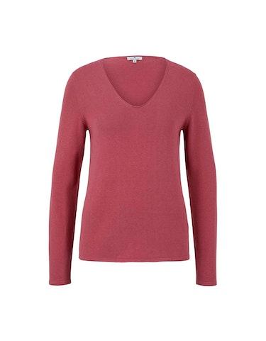 Produktbild zu Pullover aus feinem Baumwoll-Strick von Tom Tailor