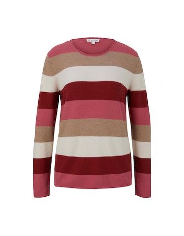 Produktbild zu Basic-Pullover mit feiner Struktur von Tom Tailor